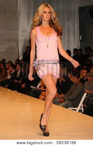 Model inside at the 2B Free Fall 2007 Collection Fashion Show. Boulevard 3, Hollywood, CA. 03-19-07
