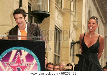 Michael Urie and Vanessa Williams at the award ceremony honoring Vanessa Williams with a star on the Hollywood Walk of Fame. Hollywood Blvd., Hollywood, CA. 03-19-07