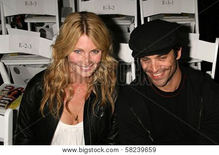 Johnathon Schaech and friend inside at the 2B Free Fall 2007 Collection Fashion Show. Boulevard 3, Hollywood, CA. 03-19-07