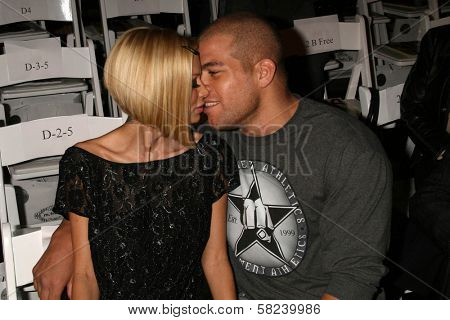 Jenna Jameson and Tito Ortiz inside at the 2B Free Fall 2007 Collection Fashion Show. Boulevard 3, Hollywood, CA. 03-19-07