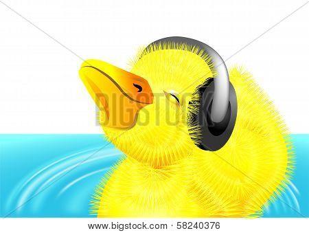 Duckling With Headphones