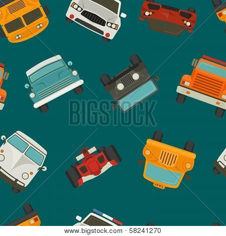 Seamless Cars Background And Pattern