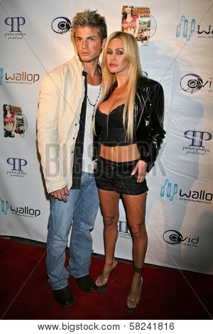 Shauna Sands and friend at the DVD Release Party for