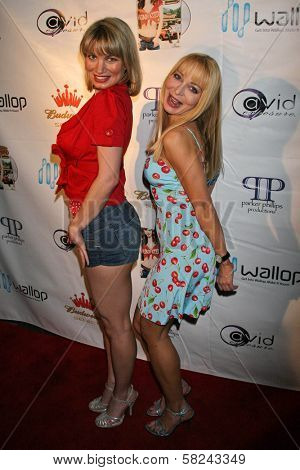 Rena Riffel and Lorielle New at the DVD Release Party for