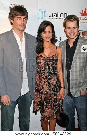 Jonathan Bennett with April Scott and Randy Wayne at the DVD Release Party for
