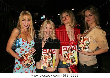 Lorielle New and Riley Weston with Rena Riffel and Olja Hrustic at the DVD Release Party for