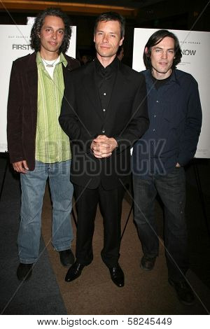Hawk Ostby with Guy Pearce and Mark Fergus at the Los Angeles premiere of