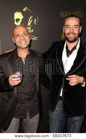 Laurent Planeix and guest at the Los Angeles Runway Debut of Marceau. Boulevard3, Hollywood, CA. 03-29-07