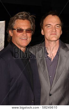 Kurt Russell and Quentin Tarantino at the Los Angeles premiere of