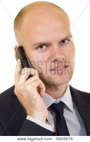 Businessman On The Phone