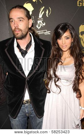 Laurent Planeix and Kim Kardashian at the Los Angeles Runway Debut of Marceau. Boulevard3, Hollywood, CA. 03-29-07