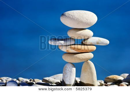 Sculpture of Smooth Rocks
