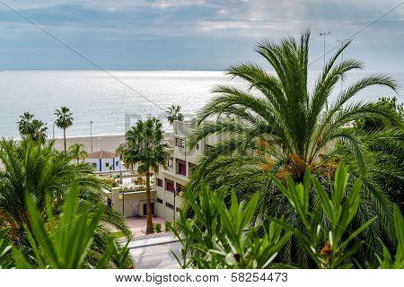 View Of Nerja. Seaside Resort In Spain