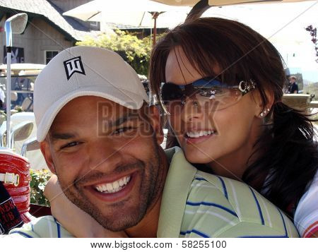 Amaury Nolasco and Karen McDougal at the 7th Annual Playboy Golf Scramble Championship Finals. Lost Canyons Golf Club, Simi Valley, CA. 03-30-07