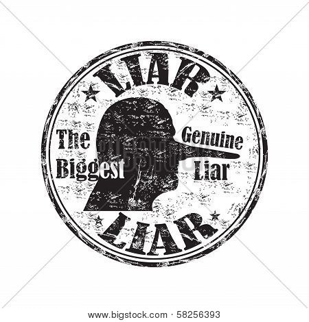 Liar grunge rubber stamp