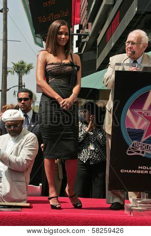 Halle Berry and Johnny Grant at the ceremony honoring Halle Berry with the 2,333rd star on the Hollywood Walk of Fame. Hollywood Boulevard, Hollywood, CA. 04-03-07