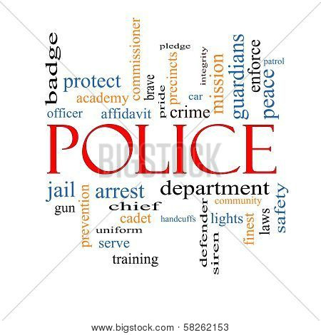 Police Word Cloud Concept