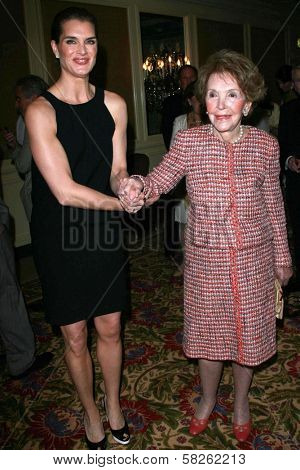 Brooke Shields and Nancy Reagan at the Saks Fifth Avenue and Colleagues Annual Spring Luncheon honoring Brooke Shields. Beverly Wilshire Hotel, Beverly Hills, CA. 04-10-07