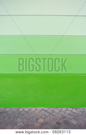 Green Degrade Wall Background