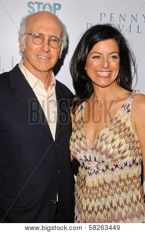 Larry David and Laurie Lennard at the Elle Magazine