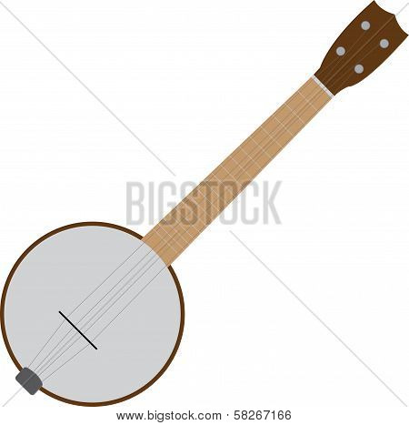 cartoon four string tenor banjo vector image