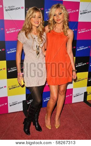 AJ Michalka and Aly Michalka at the launch of T-Mobile Sidekick ID, T-Mobile Sidekick Lot, Hollywood, CA. 04-13-07