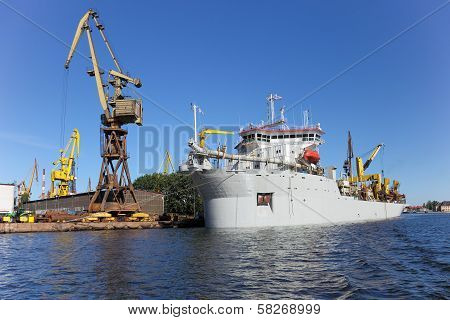 Dredging Ship
