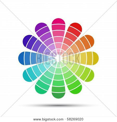 Color palette isolated on white background
