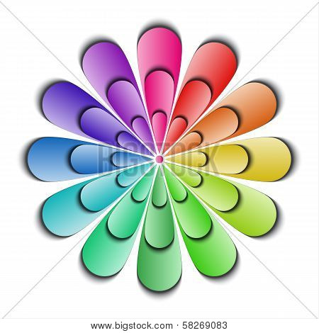 Color abstract flower