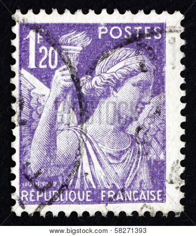 Postage Stamp France 1944 Iris, Goddes Of Rainbow