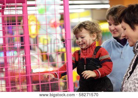 Family At Game Amusement Park