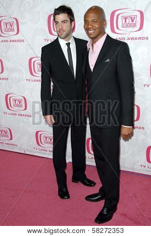 Zachary Quinto and Leonard Roberts at the 5th Annual TV Land Awards. Barker Hangar, Santa Monica, CA. 04-14-07