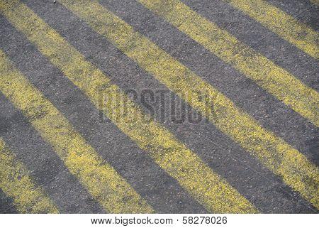 Stripes On Street Concrete Detail