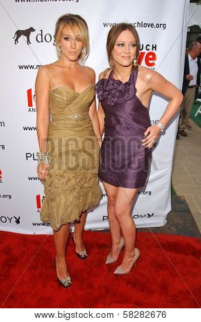 Haylie Duff and Hilary Duff at the