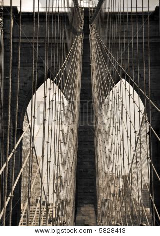 View From Brooklyn Bridge In New York