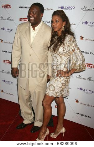 Rodney Peete and Holly Robinson Peete at the DESIGNCARE 2007 Fundraiser to benefit those battling debilitating disease and life circumstances. Private Residence, Malibu, CA. 07-21-07