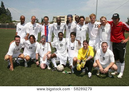 Hollywood United Global Team at the Soccer for Survivors Celebrity Showcase Match. Beverly Hills High School, Beverly Hills, CA. 07-22-07