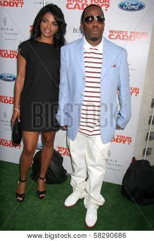 Big Boi and wife Sherlita at the Los Angeles premiere of