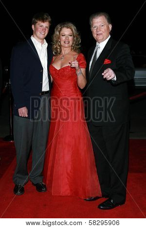 Mary Hart with Burt Sugarman and son at the 18th Annual International Palm Springs Film Festival Gala Awards. Palm Springs Convention Center, Palm Springs, CA. 01-06-07