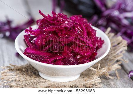 Portion Of Red Coleslaw