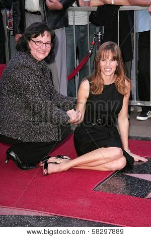 Hilary Swank and her mother Judy Swank at the ceremony honoring Hilary Swank with the 2,325th star on the Hollywood Walk of Fame. Hollywood Boulevard, Hollywood, CA. 01-08-07