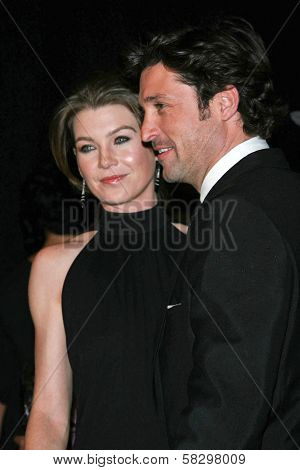 Ellen Pompeo and Patrick Dempsey in the press room at The 33rd Annual People's Choice Awards. Shrine Auditorium, Los Angeles, CA. 01-09-07