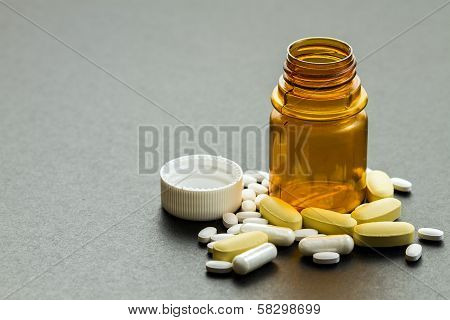 Pills And Vitamins - Close Up