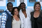 Don Cheadle and Bridgid Coulter with Vondie Curtis-Hall and Kasi Lemmons at the 2007 Los Angeles Fil