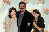 Ana Serrano with George Lopez and their daughter Pedra at Nickelodeon's 20th Annual Kids' Choice Awa