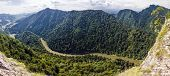Panoramic Photo Of Spectacular River Canyon In Pieniny, Poland.