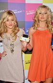 AJ Michalka and Aly Michalka at the launch of T-Mobile Sidekick ID, T-Mobile Sidekick Lot, Hollywood
