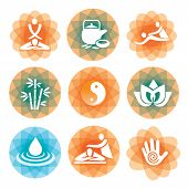 Massage spa icons