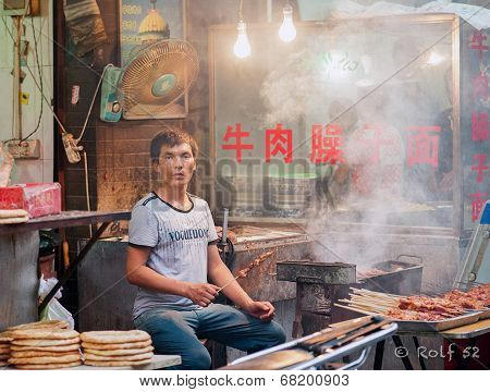 Street food in China