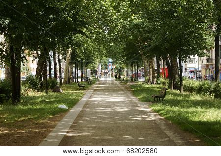 Walkway Warsaw street
